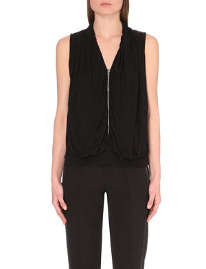 KAREN MILLEN Draped jersey vest top