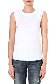 KAREN MILLEN Georgette back top