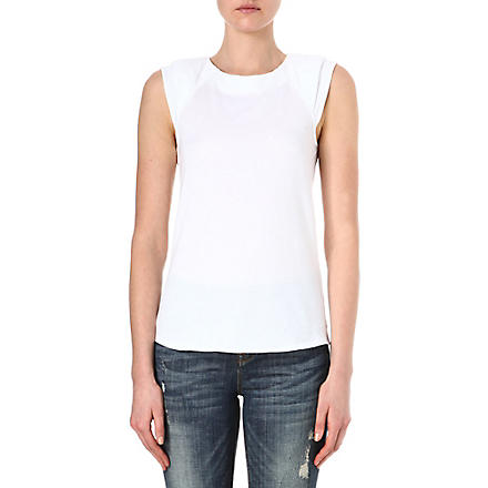 KAREN MILLEN Georgette back top (White