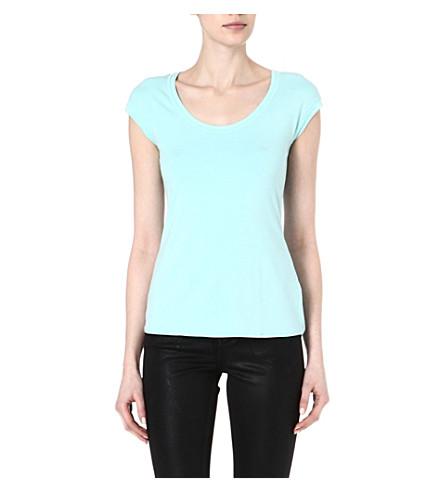 KAREN MILLEN Essential relaxed t-shirt (Aqua