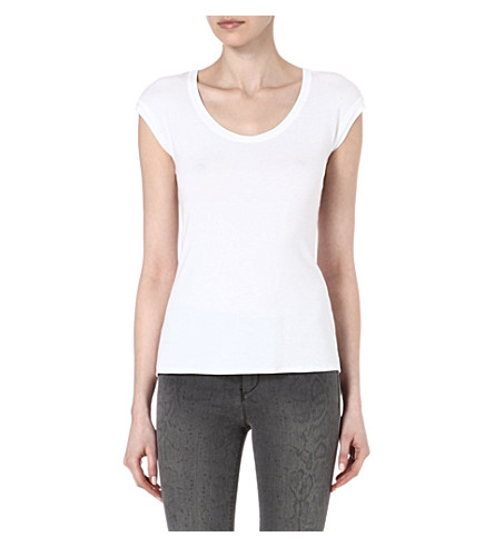 KAREN MILLEN Essential relaxed t-shirt (White