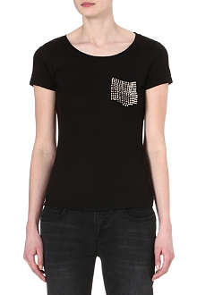 KAREN MILLEN Stud-pocket t-shirt