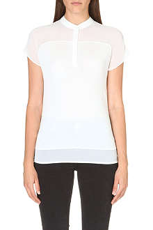 KAREN MILLEN Sheer panel t-shirt