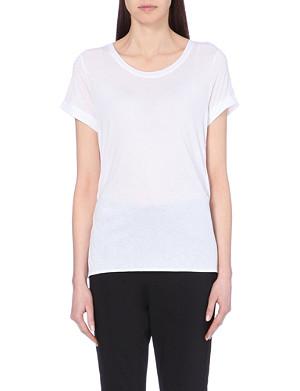 KAREN MILLEN Crepe and jersey t-shirt