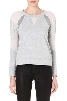KAREN MILLEN Semi-sheer panel sweatshirt