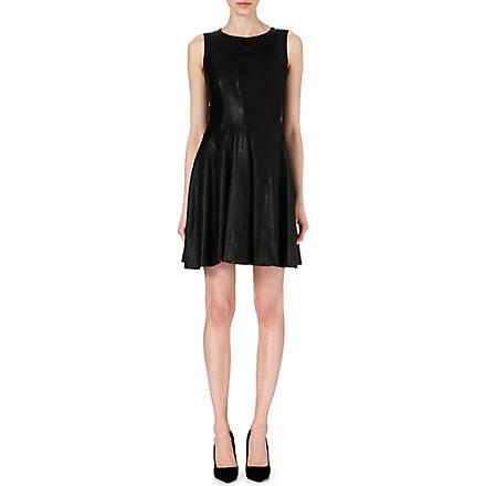 KAREN MILLEN Leather dress (Black