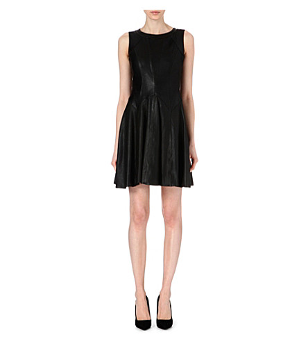 KAREN MILLEN Leather dress (Black