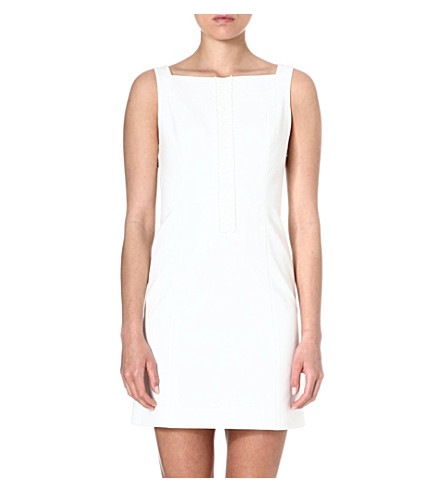 KAREN MILLEN Lace panel mini dress (Ivory