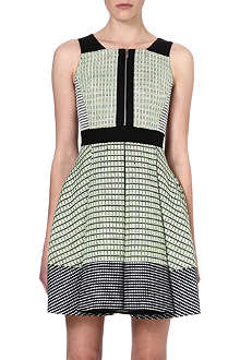 KAREN MILLEN Neon tweed dress