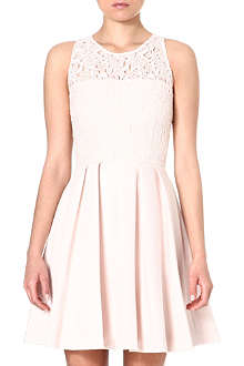 KAREN MILLEN Lace-bodice skater dress