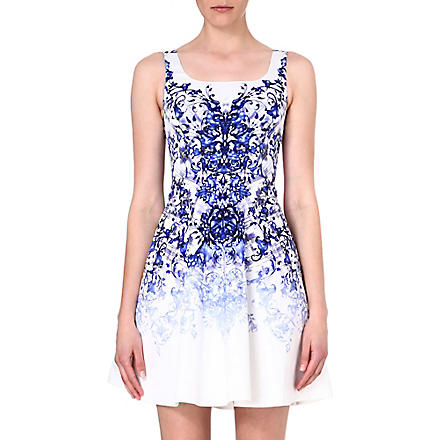 KAREN MILLEN Printed A-line dress (Blue/multi