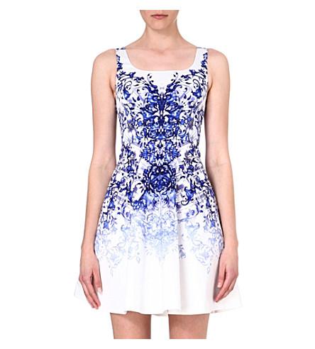 KAREN MILLEN Printed A-line dress (Blue/multi