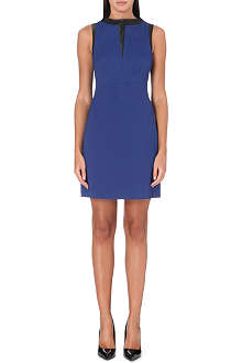 KAREN MILLEN Contrast-trim shift dress