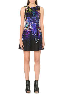 KAREN MILLEN Dark floral print dress