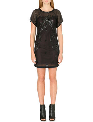 KAREN MILLEN Sequin-encrusted lace dress