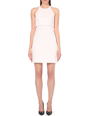 KAREN MILLEN Layered stretch-cotton dress
