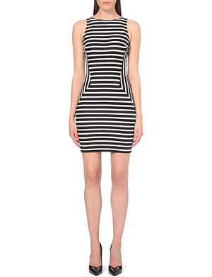 KAREN MILLEN Stripe panelled dress