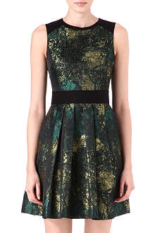 KAREN MILLEN Jacquard full skirted dress