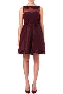 KAREN MILLEN Velvet appliqué prom dress