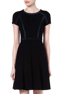 KAREN MILLEN Contrast panel dress