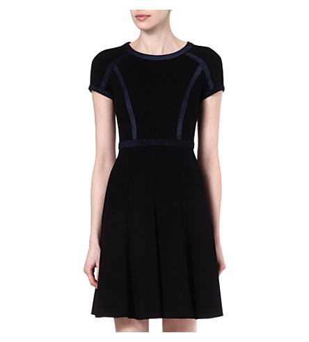 KAREN MILLEN Contrast panel dress (Black/multi