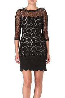 KAREN MILLEN Lace and crepe dress