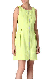 KAREN MILLEN Tweed neon dress