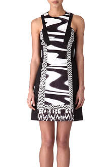 KAREN MILLEN Monochrome colourblock dress