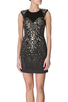 KAREN MILLEN Metallic beaded dress