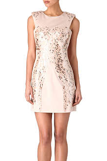KAREN MILLEN Metallic sequin dress