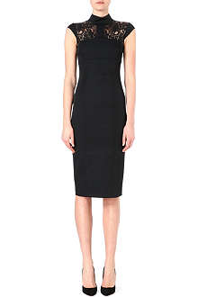 KAREN MILLEN Graphic lace insert dress