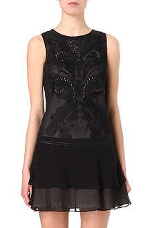 KAREN MILLEN Cutwork and bead dress
