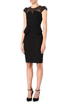 KAREN MILLEN Brocade peplum dress