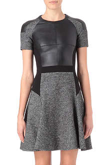 KAREN MILLEN Graphic fabric mix dress