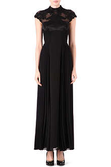 KAREN MILLEN Sheer silk-chiffon maxi dress