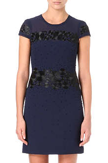 KAREN MILLEN Polka-dot embroidery dress