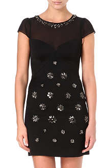 KAREN MILLEN Brooch beaded dress