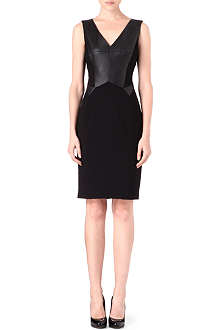 KAREN MILLEN Faux-leather panelled dress
