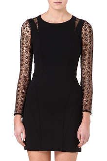 KAREN MILLEN Geo lace and embroidery dress