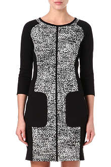 KAREN MILLEN Textured stretch-jersey dress