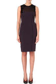 KAREN MILLEN Velvet applique dress