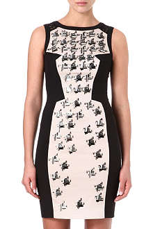 KAREN MILLEN Geometric beaded dress
