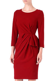 KAREN MILLEN Gathered-front dress