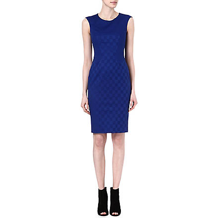 KAREN MILLEN Jacquard stretch-cotton shift dress (Blue