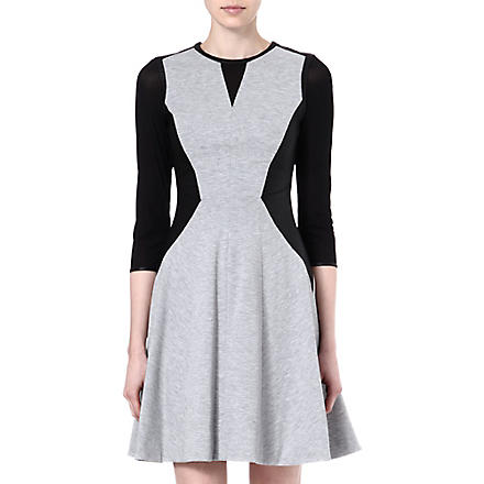KAREN MILLEN Contrast dress (Grey/multi