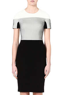KAREN MILLEN Jersey and mesh shift dress