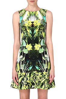 KAREN MILLEN Jungle-print flared-hem dress