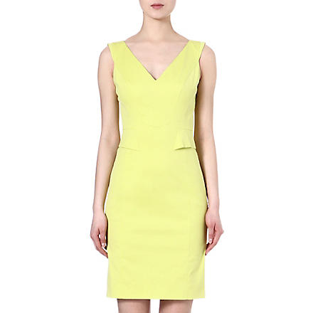 KAREN MILLEN V-neck shift dress (Lime