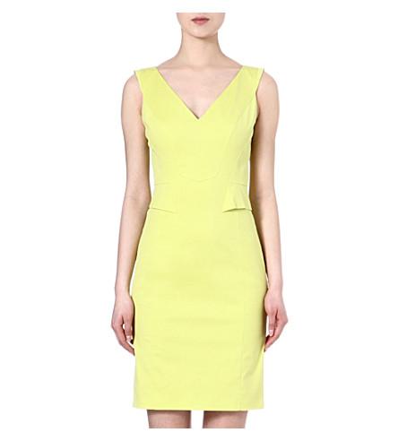 KAREN MILLEN V-neck shift dress (Lime