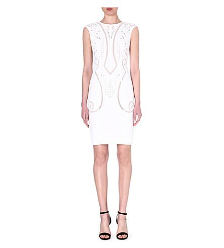 KAREN MILLEN Embroidered cutwork dress (White